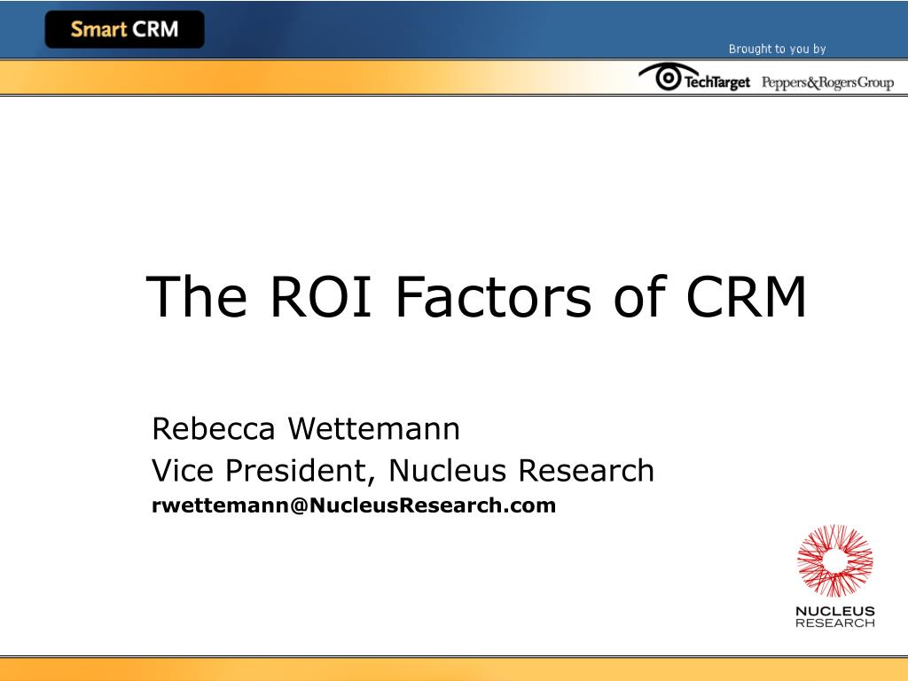 the roi factors of crm l.