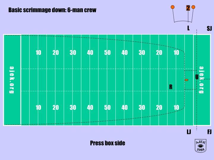 Basic scrimmage down: 6-man crew