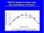 optimal design for base case no uncertainty is 6 floors