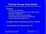 parking garage case details