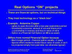 real options on projects