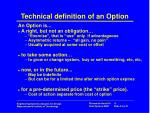 technical definition of an option