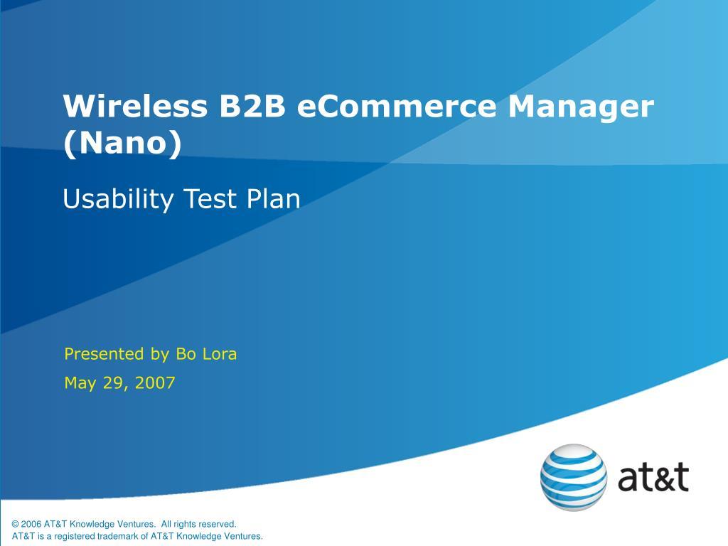 wireless b2b ecommerce manager nano l.