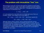 the problem with intracellular free iron
