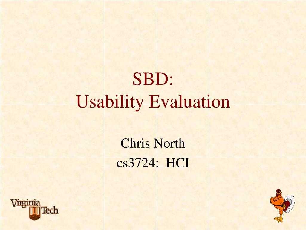 sbd usability evaluation l.