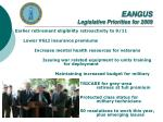 eangus legislative priorities for 2009