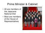 prime minister cabinet