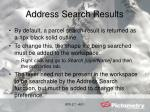 address search results