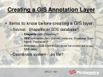creating a gis annotation layer