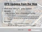 efs updates from the web