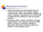 disciplinary provisions7