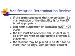 manifestation determination review21
