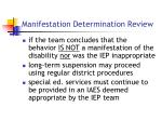 manifestation determination review22