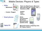 mobile devices players types