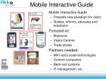 mobile interactive guide