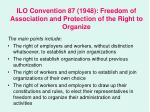 ilo convention 87 1948 freedom of association and protection of the right to organize