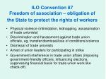 ilo convention 87 freedom of association obligation of the state to protect the rights of workers