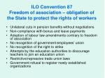 ilo convention 87 freedom of association obligation of the state to protect the rights of workers7