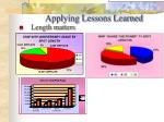 applying lessons learned35