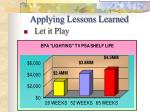 applying lessons learned36
