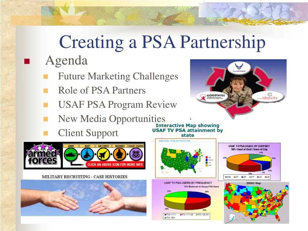 Creating a PSA Partnership