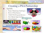 creating a psa partnership2