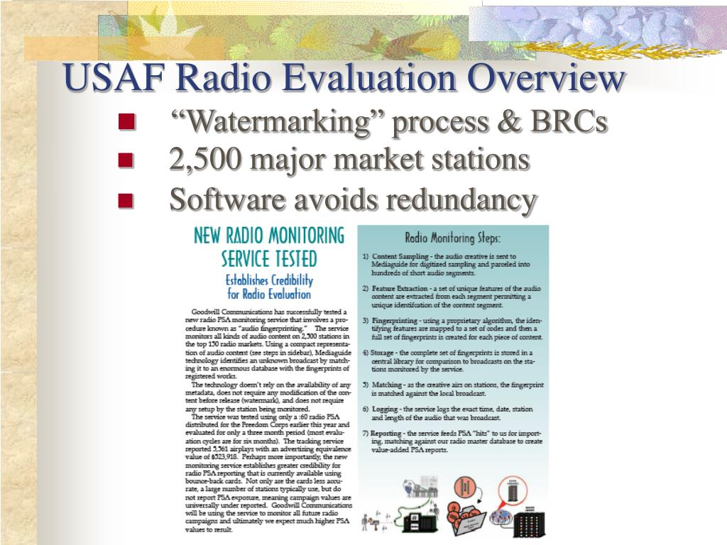 USAF Radio Evaluation Overview