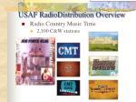 usaf radiodistribution overview