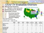 usaf tv evaluation overview