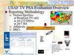 usaf tv psa evaluation overview