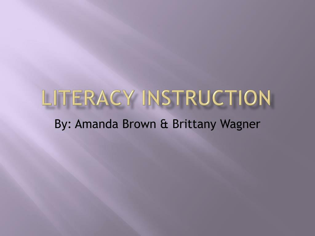 literacy instruction l.