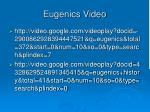 eugenics video