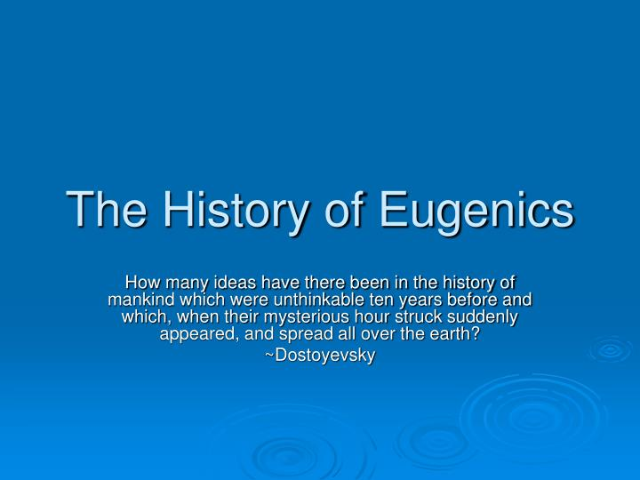 the history of eugenics n.