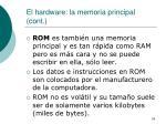 el hardware la memoria principal cont4