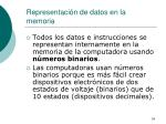representaci n de datos en la memoria