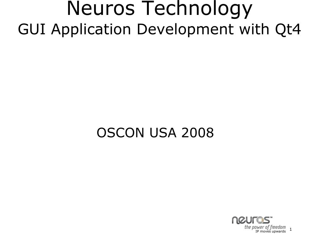neuros technology gui application development with qt4 l.
