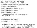 step 4 building for arm osd