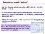 determine your upgrade readiness
