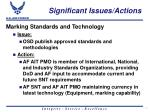 significant issues actions17