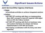significant issues actions18