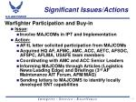 significant issues actions19