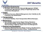 snt benefits