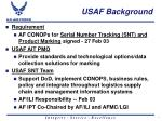 usaf background