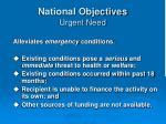 national objectives urgent need