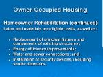 owner occupied housing31