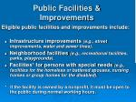 public facilities improvements