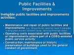 public facilities improvements38