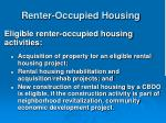 renter occupied housing
