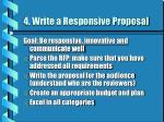 4 write a responsive proposal