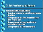 5 get feedback and revise